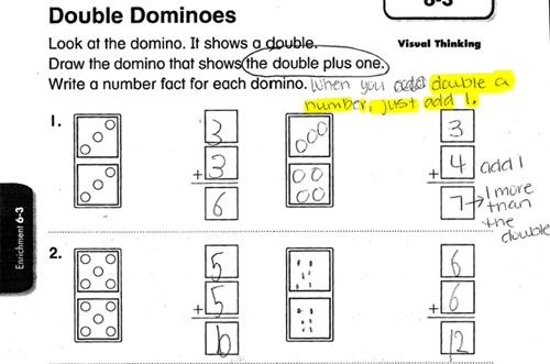 math worksheet : toddsingleton  » owned by a 1st grade math worksheet  : Doubles Math Worksheet